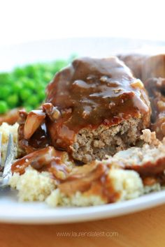 But, you most likely won't even notice because I made these the very same way I would do a regular beef salisbury steak. Just as delicious with less fat and calories than the beef version. Healthy Ground Turkey, Ground Turkey Recipes, Ground Beef, Turkey Meat Recipes, Recipes With Ground Turkey, Turkey Food, Ground Chicken, Meatloaf Recipes, Turkey Salisbury Steak Recipe
