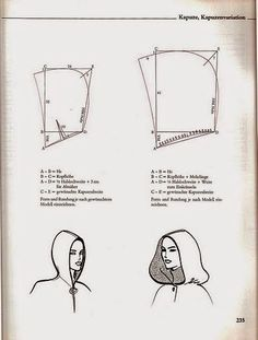 Barbie Cape With Hood Sewing And Pattern Free Cloak Pattern Sewing Hacks, Sewing Tutorials, Sewing Crafts, Diy Crafts, Techniques Couture, Sewing Techniques, Pattern Cutting, Pattern Making, Diy Clothing