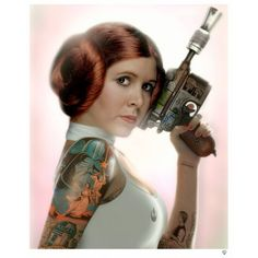 JJ Adams - Princess Leia Tattoo Colour