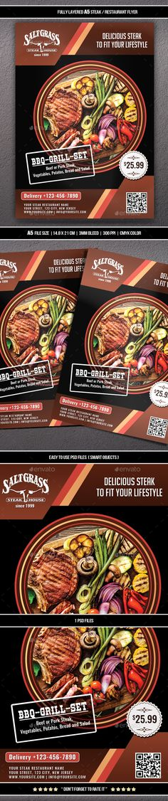 Steak / Restaurant Flyer (A5)