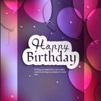 palloncini e coriandoli Carta vettoriale buon compleanno