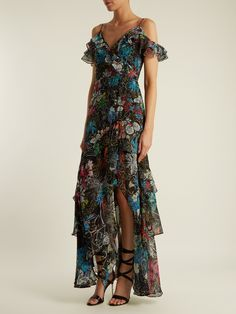 Asymmetric floral-print silk-georgette gown | Peter Pilotto | MATCHESFASHION.COM