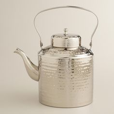 Hammered Steel Tea Kettle from Cost Plus World Market on Catalog Spree