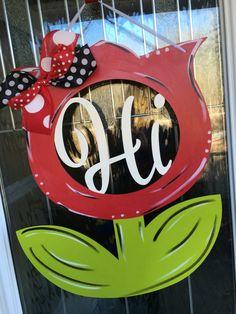 Hi hi flower door hanger flower door hanger spring door