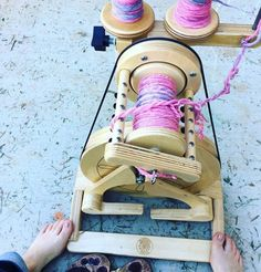 Spring yarn Spinning! gotta love a portable wheel, Check out the pollywog from Spinolution