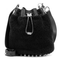 Alexander Wang - Alpha shearling and leather bucket bag