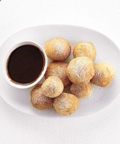 Fried Dough With Chocolate Sauce   Go beyond the plain cheese pie with inventive recipes that rise to any occasion.