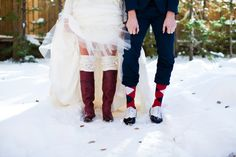 Winter Wedding - Green Vintage Photography