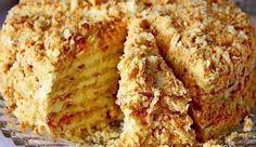 Торт на сковороде с заварным кремом