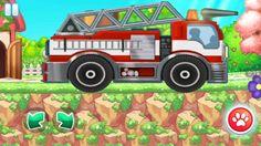 Racing Games For Kids - Racing Fire Truck in Forest with Animals - Cars . Racing Games For Kids, Video Games For Kids, Fire Trucks, Race Cars, Animals, Drag Race Cars, Animaux, Firetruck, Animal