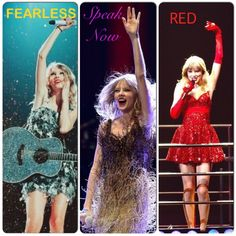 Edit of Taylor Swift during the FEARLESS Tour, Speak Now Tour, and now RED Tour