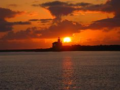 Coquille River Lighthouse, Sunset - from Old Town Bandon, Oregon