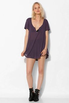 Project Social T Sheer Henley Tee - Urban Outfitters