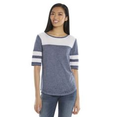 SO® Varsity Burnout Stripes Juniors' Tee