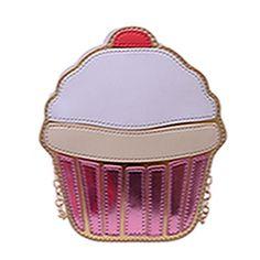 Fashion Cupcake Bag Women Leather Messenger Bag Female Ice Cream bag bolsa de sorvete Bolsa Femininas Small crossbody Bag