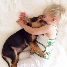 #Angels #napping #German #Shepherd #Dog and a baby