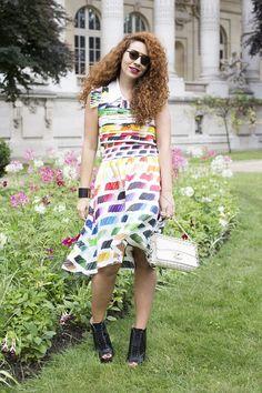 Natasha Zinko, fashion and jewellery designer. Couture Fashion Week, Paris.