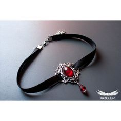 cool Gothic choker with Red Stone Metal Choker Victorian Gothic Jewelry