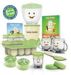 Make your own baby food with the baby bullet.