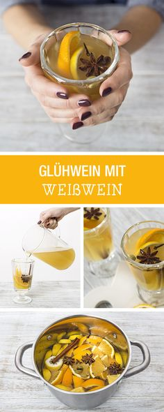 The classic for Christmas: mulled wine, but this time white wine / mulled wine made of white wine vi Fancy Drinks, Yummy Drinks, Healthy Drinks, Yummy Food, Xmas Food, Christmas Drinks, Winter Drinks, Winter Food, Smoothie Drinks