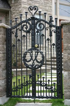 Wrought Iron Art, LTD is Metal artist, handmade, artistic, ornamental… Wrought Iron Decor, Wrought Iron Gates, Metal Gates, Grades, Iron Art, Fence Gate, Entrance Gates, Iron Doors, French Country Decorating