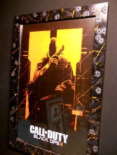Call of Duty Black Ops 2 poster (Framed) Frame will be hand built and painted