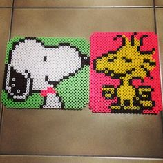 Snoopy and Woodstock perler beads by missy_kiwi