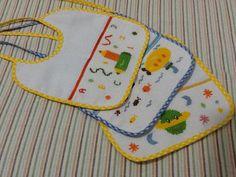 Hermosos baberitos bordados, un gran detalle para el bebe