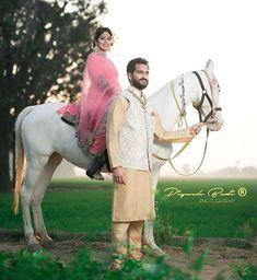 Gur Punjabi Wedding Couple, Punjabi Couple, Wedding Couples, Cute Couples, Pre Wedding Shoot Ideas, Pre Wedding Photoshoot, Woman Riding Horse, Couple Shoot, Couple Photography