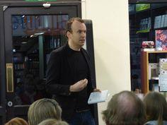 Matt Haig talks to a crowded shop on March 19th.