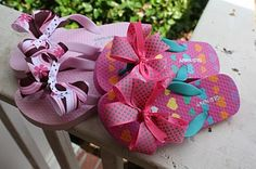 Flip Flop tutorial... easy way to attach bows