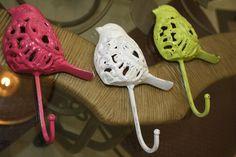 Cast iron birdy hooks #vintage #shabby chic