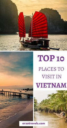 Do not miss out on these 10 places to visit in Vietnam. Top travel tips for Vietnam, what to see and do - either as a solo female traveler or any other tourist in #asia Female Travel Pictures @shuttertsock