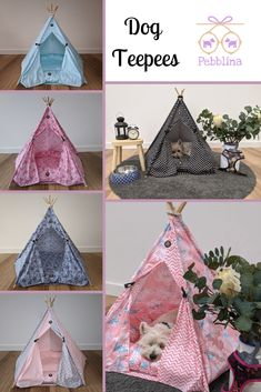 Adorable Dog Teepee Tent by Pebblina. Australian made with beautiful soft cotton material. Perfect for any spot in the family home! Teepee Tent, Tents, Dog Bed, Cute Dogs, Home And Family, Luxury, Cotton, Beautiful, Tent