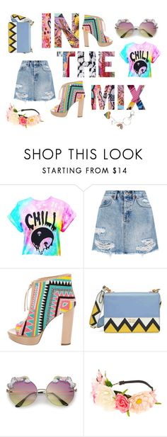 """""""In The Mix"""" by jamroxoxo on Polyvore featuring moda, Ksubi, Jerome C. Rousseau, Prada i claire's"""
