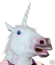Unicorn Horned Horse Head Mask Creepy 2