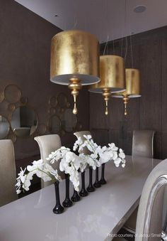 Kelly Hoppen Couture - Kelly Hoppen Interiors luxury homes, modern interior design, interior design inspiration . Decoration Inspiration, Decoration Design, Interior Inspiration, Interior Ideas, Luxury Dining Room, Dining Room Design, Dining Rooms, Dining Tables, Best Interior