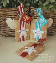 Stampin' up! Sending you Joy! Mini treat bag Christmas