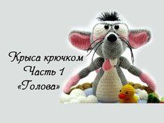 "МК Часть 1 Вяжем крючком игрушку крысу амигуруми ""Голова"" - YouTube"