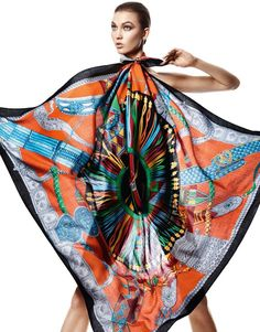 Carres Hermes Printemps ete 2013 Foulards Karlie Kloss