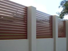 front yard fence wooden slats - Google Search