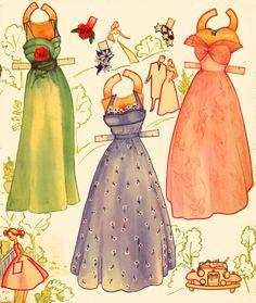 Pert & Pretty Paper Dolls, 1954, Saalfield #2621 (3 of 6)