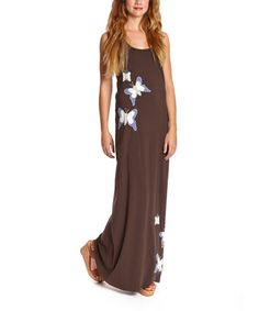 Look what I found on #zulily! Coffee Butterfly Family Organic Maxi Dress - Women #zulilyfinds