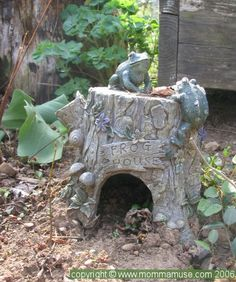 toad house Frog House, Toad House, Bug Hotel, Clay Houses, Miniature Fairy Gardens, Fairy Houses, Yard Art, Lawn And Garden, Garden Inspiration