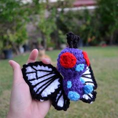 Butterfree amigurumi plush Pokemon doll by amiamour on Etsy https://www.etsy.com/listing/202795123/butterfree-amigurumi-plush-pokemon-doll