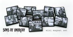 Sons of Anarchy mini magnet set #SOA