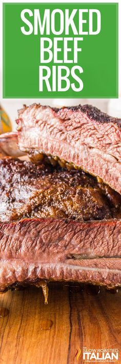 Smoked beef ribs are melt-in-your-mouth tender with a gorgeous bark on the outside. Make some for your cookout or enjoy them all by yourself! #SmokedBeefRibs #BeefRibs #Smoker Barbecue Recipes, Beef Recipes, Real Food Recipes, Bbq, Fast Easy Meals, Fun Easy Recipes, Summer Recipes, Delicious Recipes, Best Comfort Food