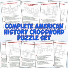 This download includes all 12 American History crossword puzzle review worksheets together in one! These cover all of American history from the early colonies through to the Civil Rights Movement.