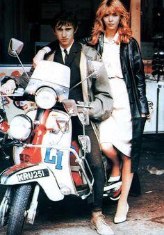 Lambretta mod scooter -- Quadrophenia movie (Jimmy and Steph) Mod Scooter, Lambretta Scooter, Scooter Girl, Piaggio Vespa, Vespa Scooters, Youth Culture, Pop Culture, Motos Vespa, Vespa Motorbike