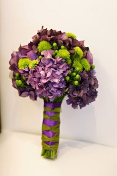 green and purple wedding flower bouquet, bridal bouquet, wedding flowers, add pic source on comment and we will update it. www.myfloweraffai... can create this beautiful wedding flower | http://flowerarrangementideasjace.blogspot.com